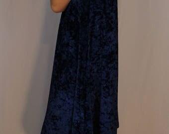 Blue Crush(ed) Velvet Dress