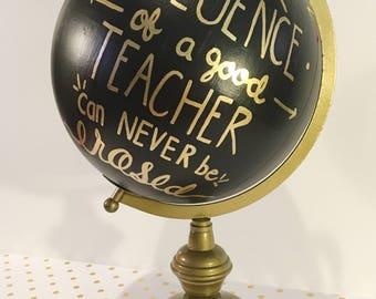 Hand Painted Customizable Globe