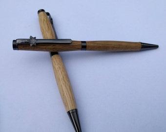 Hand Turned Freemason Oak Pen