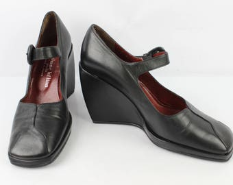 VINTAGE shoes heels offset STEPHANE KELIAN black Fr 38 / Uk 5 very good condition (3177)