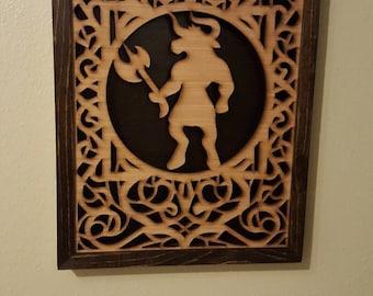 Minotaur Shadow Box- Handmade- Laser Cut