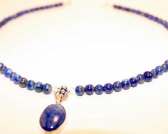 Denim Lapis Necklace