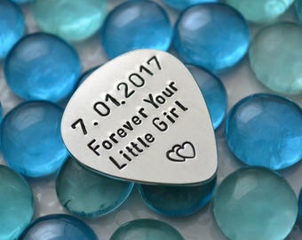 Fathers day gift from daughter, Personalized Father's Day Gift, Fathers Day Gift, Custom Guitar Pick, Anniversary Gift, Dad G