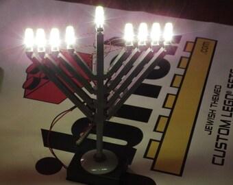 Deluxe LED light kit for Menorah - Jewish Custom LEGO® Set from JBrick