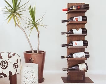 Recycled timber wine rack - The 'Heavy' Drinker