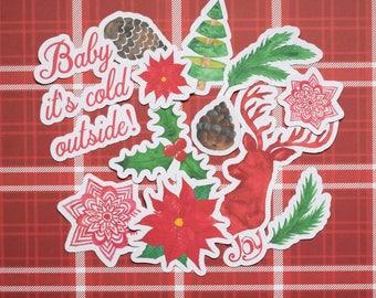 Traditional Christmas Ephemera/Die Cut Pack