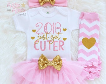 Take Home Outfit Girl 2018, Girl First Coming Home Outfit, Baby Girl 2018 Shirt, 2018 Baby Outfit, 1st Year Outfit, Girl Holiday Outfit, N1P