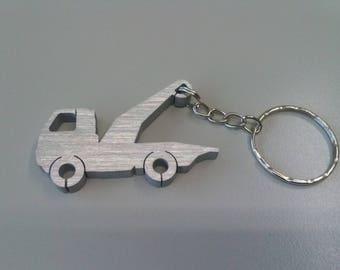 Carro Attrezzi, soccorso stradale automezzi, portachiavi personalizzabile in alluminio