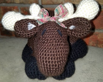 ADORABLE  CROCHETED MOOSE!!