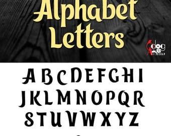 Trolls Alphabet Letters SVG DXF Vector Cut Files Monogram Font Cuttable Letters Vinyl Iron On Heat Press Transfer Silhouette Cricut JB-813