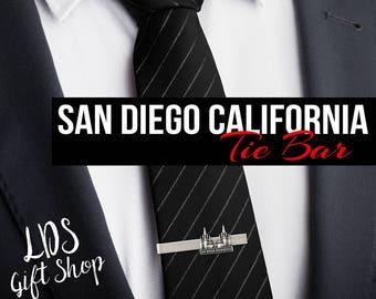 San Diego California Silver or Gold Tie Bar