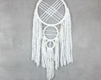 Modern dreamcatcher, Boho chic, Shabby chic, Home decor, Gypsy style decor, Romantic bedroom, Bohemian dream catcher, Unique gift, for her