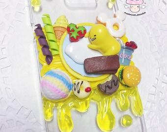 Samsung Galaxy S7 Edge -Ready to Ship - Cute Sanrio Gudetama Lazy Egg yellow droplets foodie decoden case