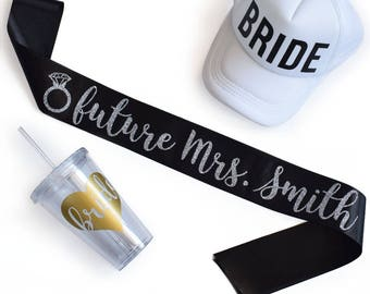 Personalised Future Mrs. Sash | Custom Made | Hen Party | Bridal Shower Gift
