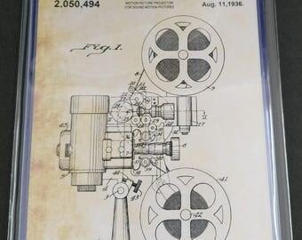 Movie Theater Patent Art Prints Set