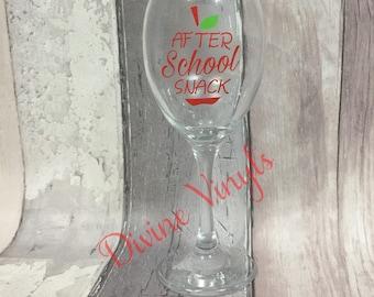 Vinyl Decal - Wine Glass - Gifts - Glass - Teacher - school