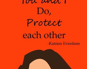 Katniss Everdeen sticker