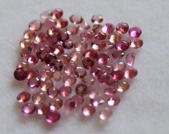 1.5 mm AAA Pink Tourmaline Round  Faceted - Top Grade Gemstone AAA Quality