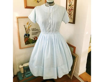 Cupcake Powder Blue Vintage 50's Prom Dress