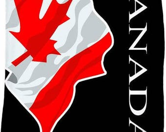 Canada Custom Flag Fleece Blanket