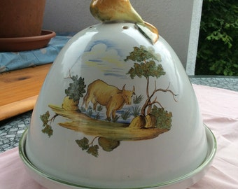 French rustic cheese earthenware Bell