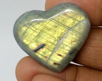 Gray-green Labradorite silver 12,22 Gr-heart