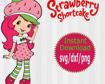 Strawberry Shortcake svg, Strawberry Shortcake clipart, layered svg files, studio files, svg files for silhouette, files for cricut, digital