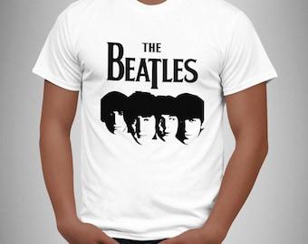 The Beatles - white - retro rock music T Shirt Magical 2