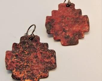 Chacana recyle brass earrings