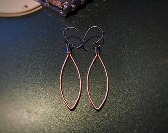 Petal Shaped Guitar String Earrings