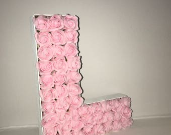 Pink, Roses, Free-standing, Wedding, Centrepiece, Wall Art, Birthday, Baby Shower, Gifts, Wall Art, Girls bedroom, Feature Wall