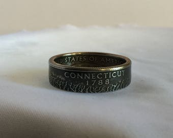 US State Quarter-Connecticut (1999) Coin Ring