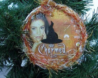 Charmed Christmas Ornament Upcycled TV Show DVD #3 - Phoebe
