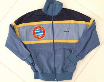 Adidas track jacket bayern munchen football made in West Germany / men size Small