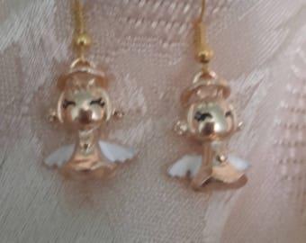 My Angels gold earrings