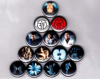 """Fringe 1"""" PIns / Buttons (sci fi show x files lost division logo art  badges poster print)"""