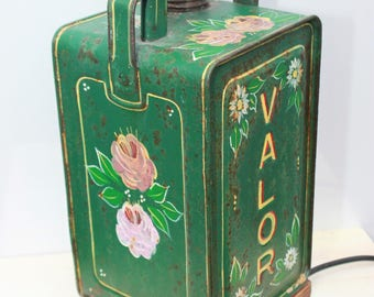 Vintage Gypsy Art Valor Oil Can Light