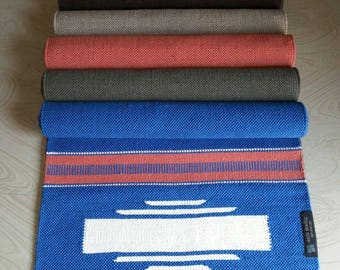 Eco friendly 100% Organic Cotton Washable Handmade Yoga Mat Rug 74 in 26 in 1/4 in