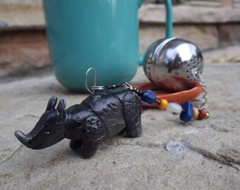 Indian Rhino Tea Infuser with Dish
