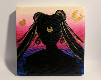 Sailor Moon Silhouette Mini Painting