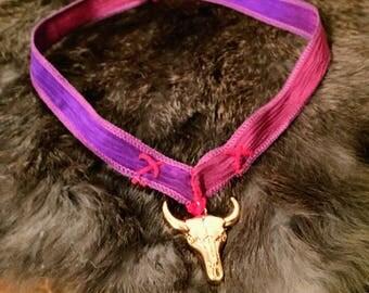 Purple and Gold Lady Godiva Choker