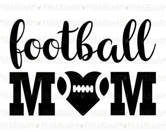 Football Mom SVG Clipart Cut Files Silhouette Cameo Svg for Cricut and Vinyl File cutting Digital cuts file DXF Png Pdf Eps