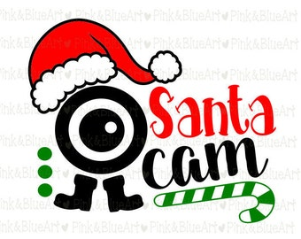 Santa Cam Design - Christmas SVG Cut Files Silhouette Cameo Svg for Cricut and Vinyl File cutting Digital cuts file DXF Png Pdf Eps