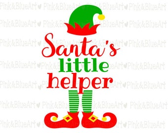 Santa's little helper SVG Christmas Cut Files Silhouette Cameo Svg for Cricut and Vinyl File cutting Digital cuts file DXF Png Pdf Eps