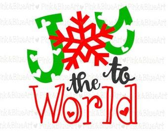 Joy to the World SVG Christmas SVG Cut Files Silhouette Cameo Svg for Cricut and Vinyl File cutting Digital cuts file DXF Png Pdf Eps