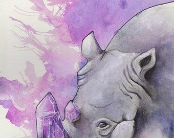 Crystal Rhino Print