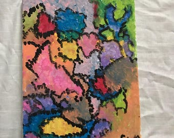 """11x14 Acrylic on Canvas Painting. """"Untitled"""""""