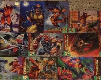Wolverine Marvel 19 Cards bulk NM