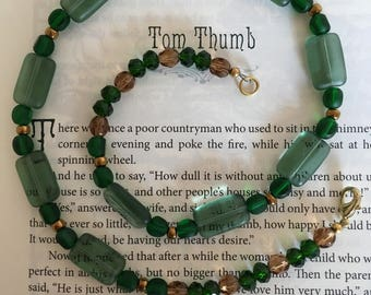 "Pine Forest: Green & Earth Tones 18"" Necklace"