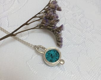 Turquoise Howlite Drop Pendant